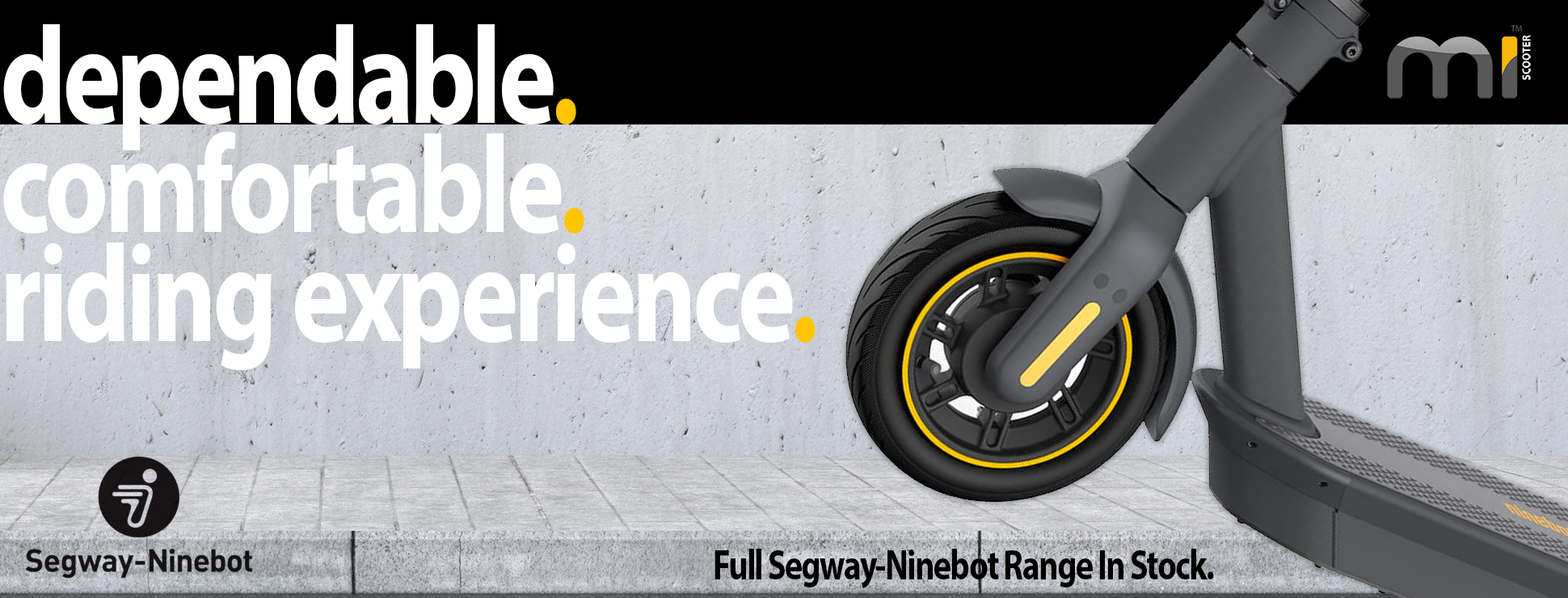 Segway - Electric Scooter Range - dependable and comfortable riding experience.
