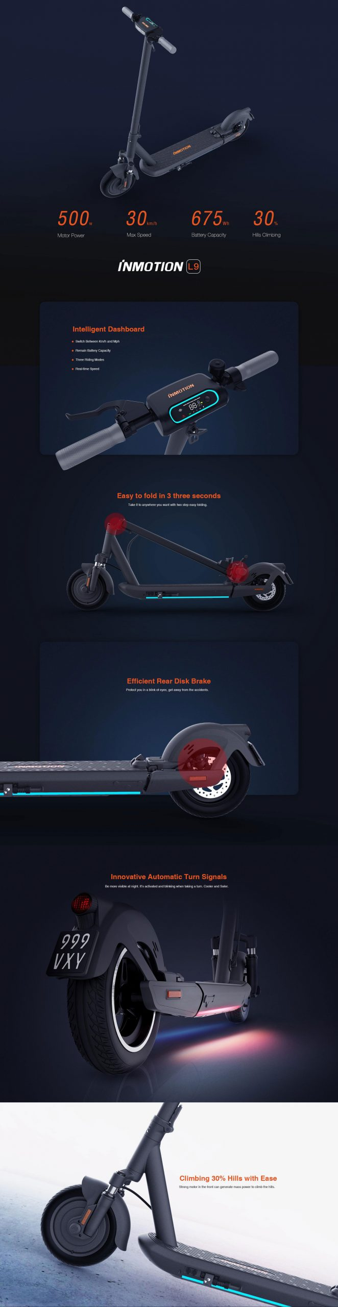 InMotion L9 Electric Scooter Full Specifications