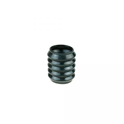 Rubber cover for steering axle
