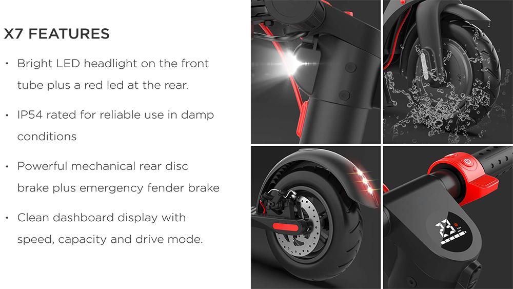 Decent X7 FEATURES - Mi-Scooter