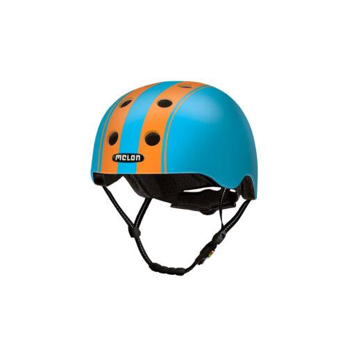 E Scooter Helmet Urban Active Decent Double Orange Blue - Melon Helmets