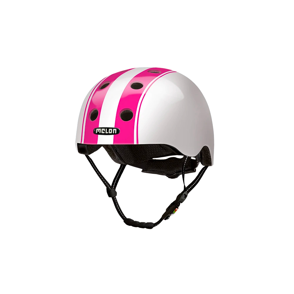E Scooter Helmet Urban Active Decent Double Pink White - Melon Helmets