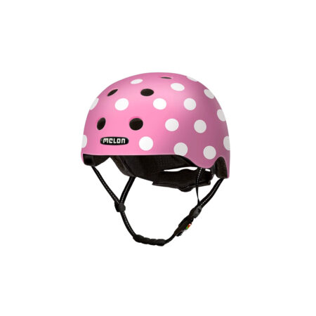 E Scooter Helmet Urban Active Dotty Pink - Melon Helmets