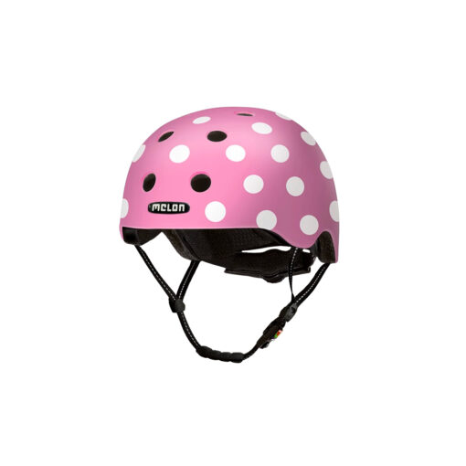 E Scooter Helmet Urban Active Dotty Pink - Melon Helmets