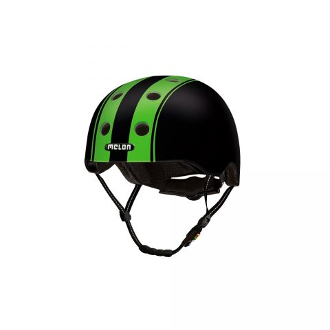 E Scooter Helmet Urban Active Double Green Black - Melon Helmets