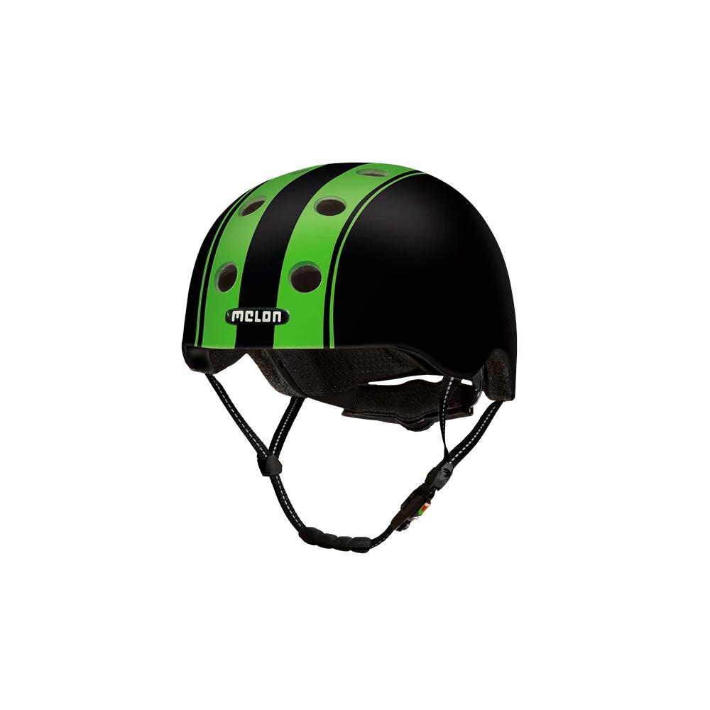 E Scooter Helmet Urban Active Double Green Black - Melon Helmets