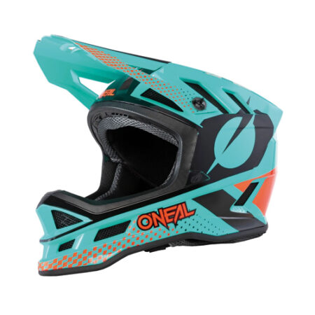 O'Neal Blade Polyacrylite Full Face Helmet Ace Mint/Orange/Black E Scooter