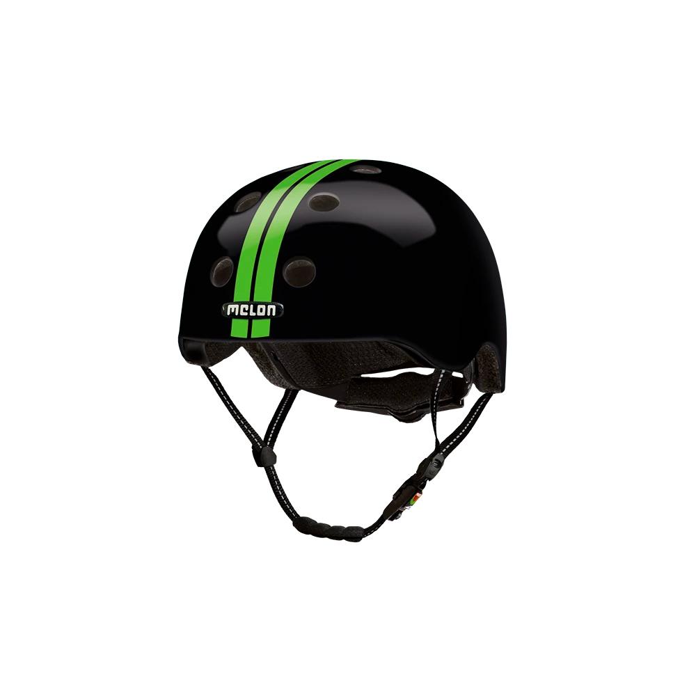 E Scooter Helmet Urban Active Straight Green Black - Melon Helmets