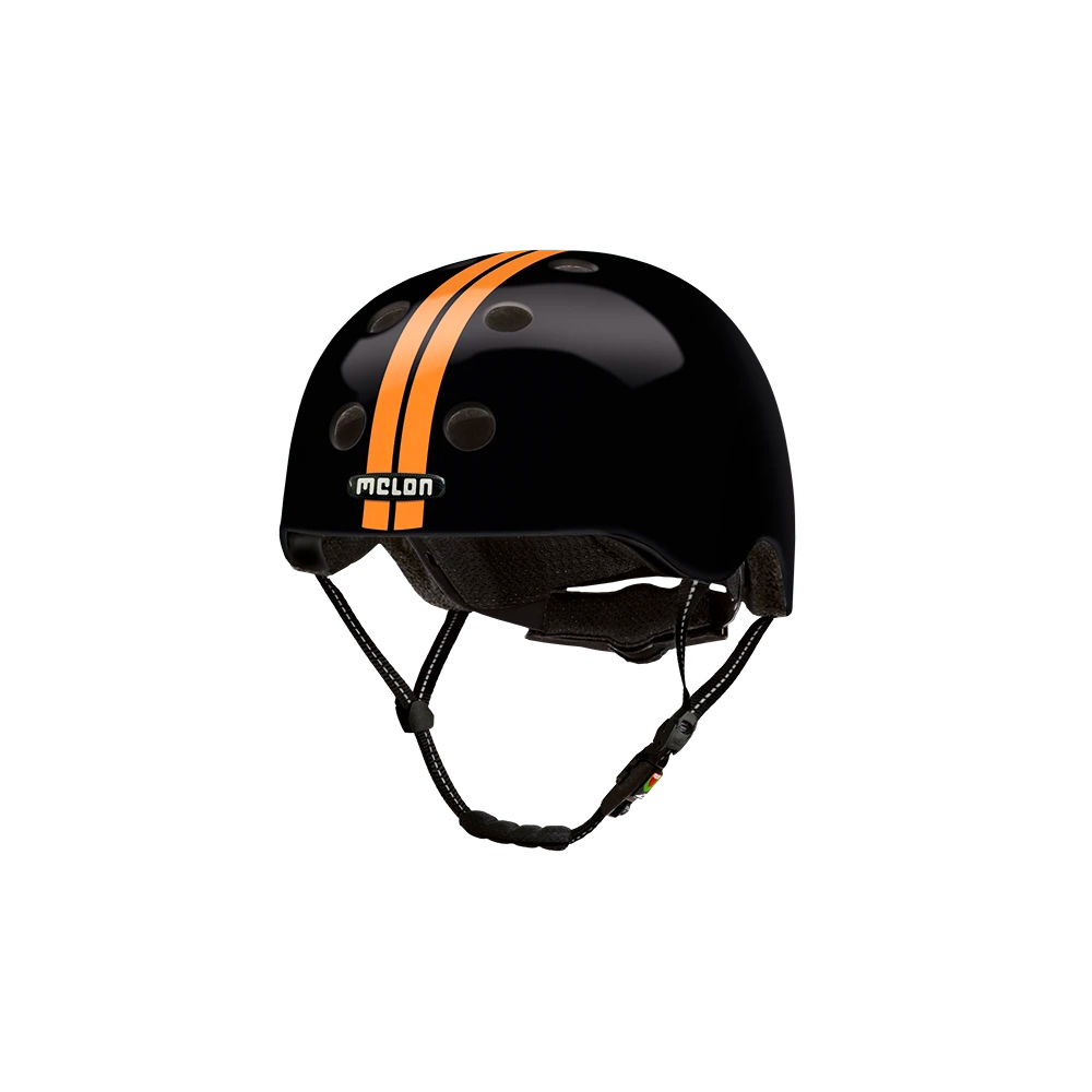 E Scooter Helmet Urban Active Straight Orange Black - Melon Helmets
