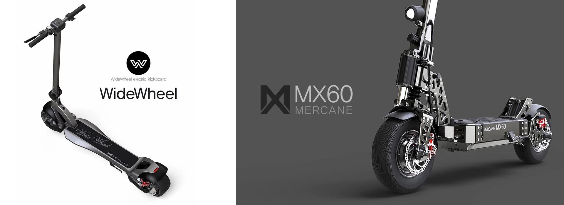 Mercane - E Scooter Range - WideWheel Pro - MX60 - Mi Scooter