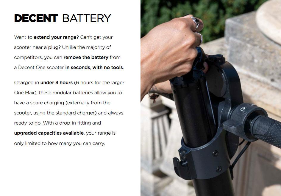 Decent One & Decent MAX Battery Range