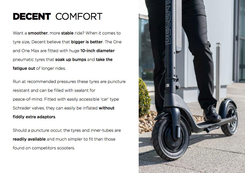 Decent One - Decent Max Comfort Features
